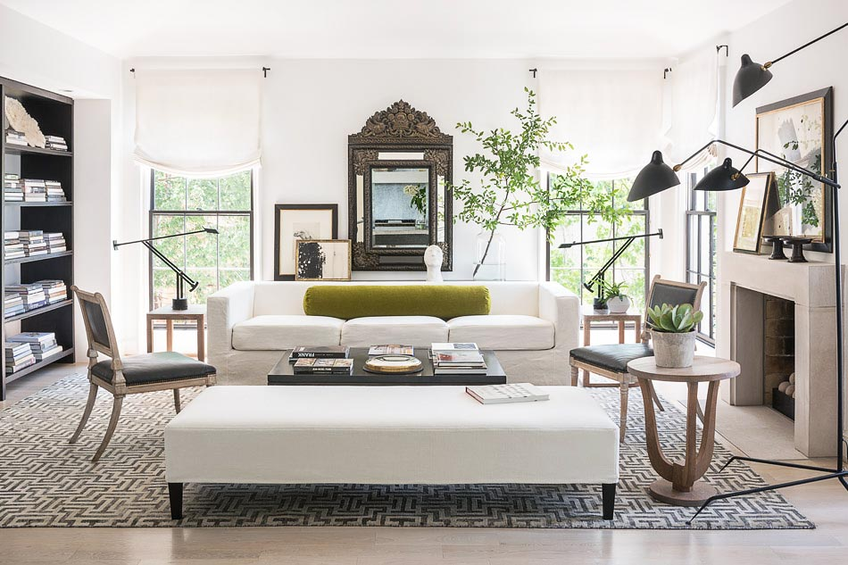 Worldly modern living room design by Betsy Brown on Thou Swell @thouswellblog