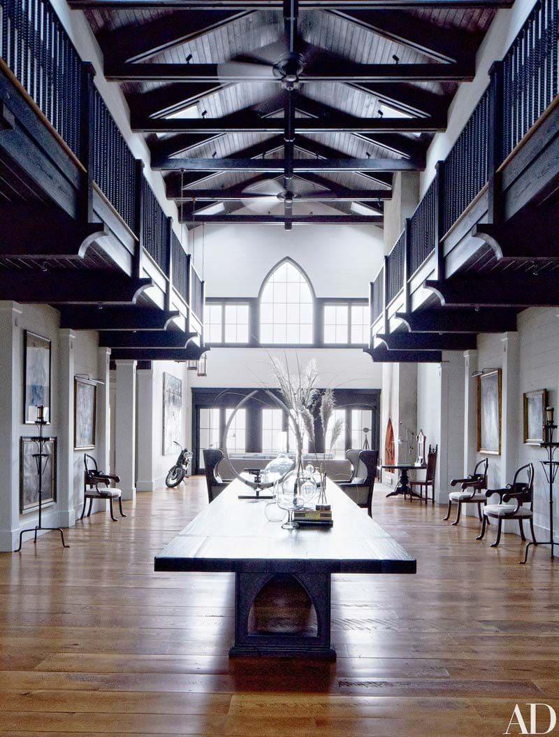 Double-story entrance hall in John Mellencamp's South Carolina home on Thou Swell @thouswellblog