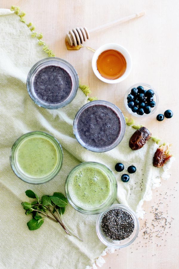 Cocoa green smoothie recipe, five online grocery delivery services on Thou Swell @thouswellblog