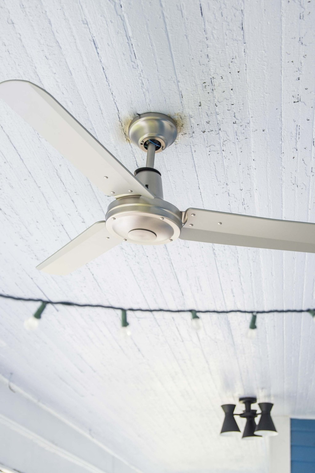 Stainless steel outdoor fan from LampsPlus on Thou Swell @thouswellblog