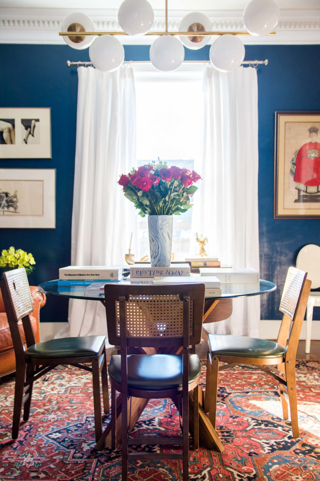 High-Gloss Blue Dining Room Reveal - Thou Swell