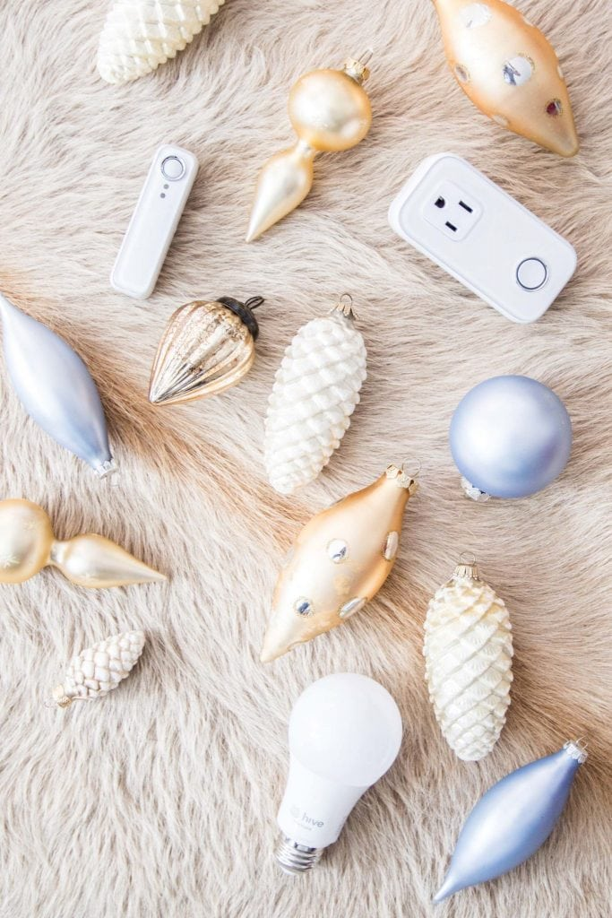 Hive smart devices for holiday decorating on Thou Swell @thouswellblog