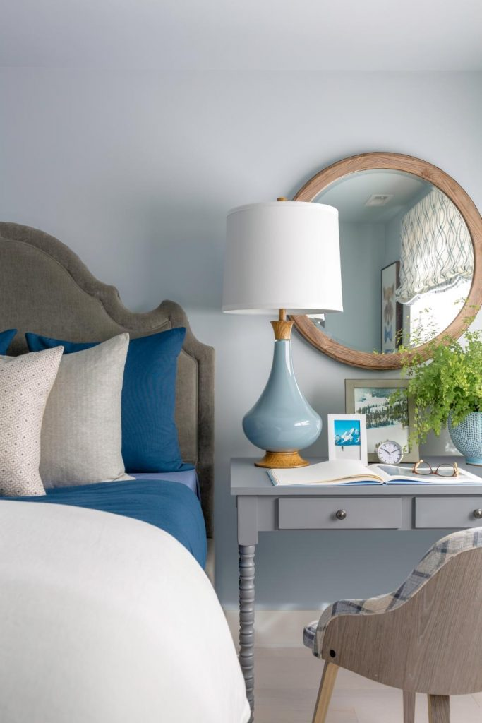 HGTV Dream Home 2018 blue bedroom on Thou Swell @thouswellblog