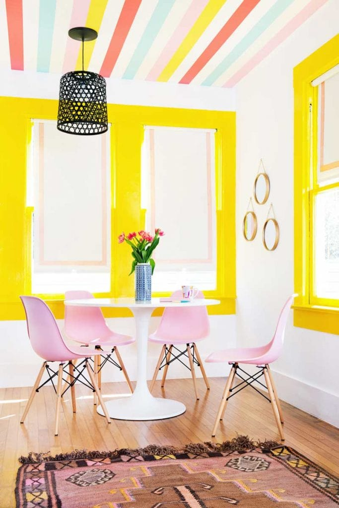 Katie Kime's colorful showroom in Austin, colorful decor on Thou Swell @thouswellblog