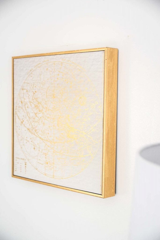 Gold wall art on Thou Swell @thouswellblog