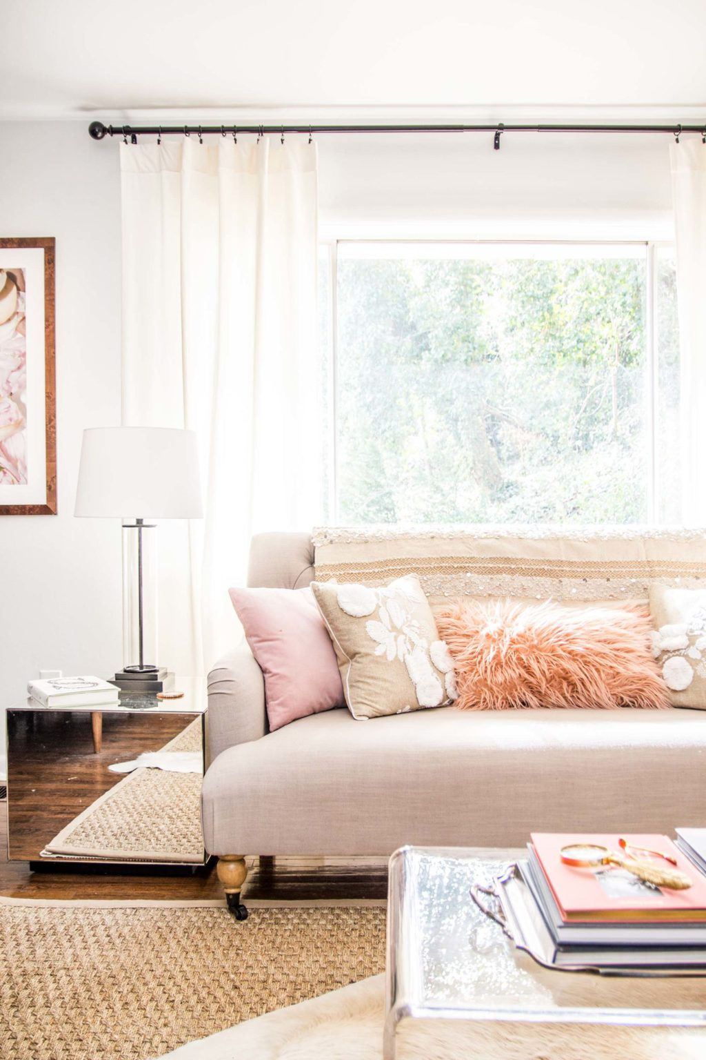 Embracing Blush Decor In The Living Room Thou Swell