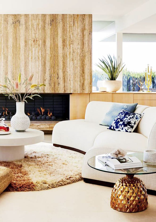 Modern Los Angeles living room featuring pieces from from CB2 x Fred Segal on Thou Swell @thouswellblog