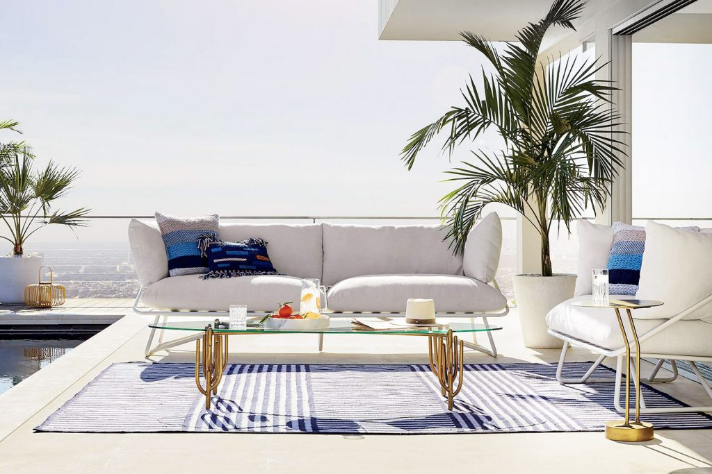 Poolside modern outdoor furniture from CB2 x Fred Segal on Thou Swell @thouswellblog