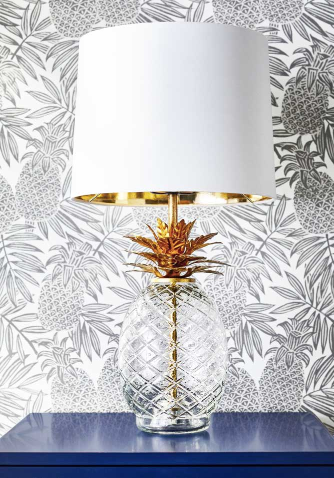 Pineapple table lamp from new eclectic home decor collection Opalhouse by Target on Thou Swell @thouswellblog