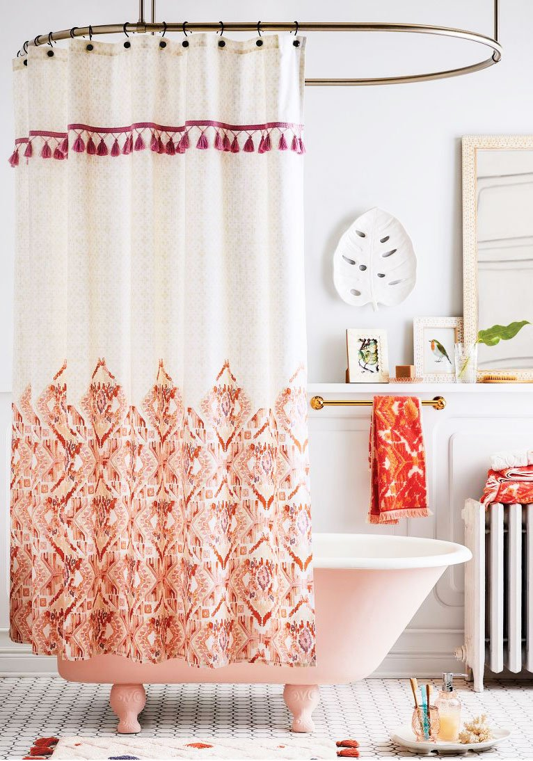 Bright and colorful eclectic bathroom decor from the new Opalhouse collection by Target on Thou Swell @thouswellblog