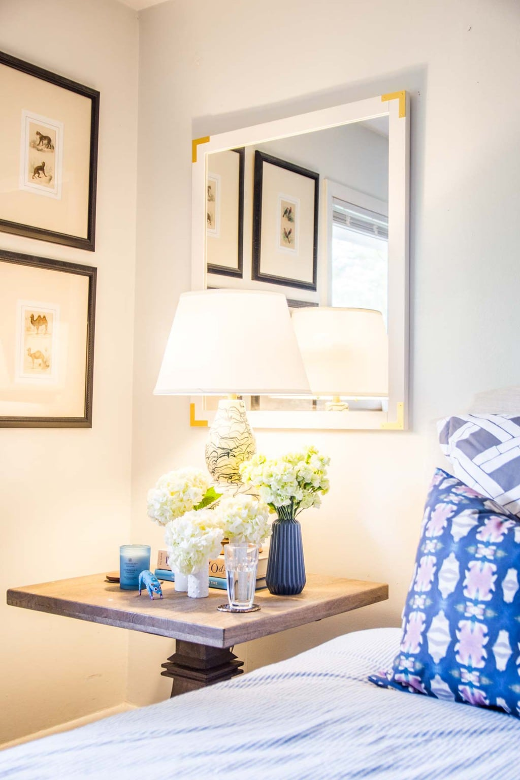 Soraa healthy light bulb with no blue light in a serene bedroom on Thou Swell @thouswellblog