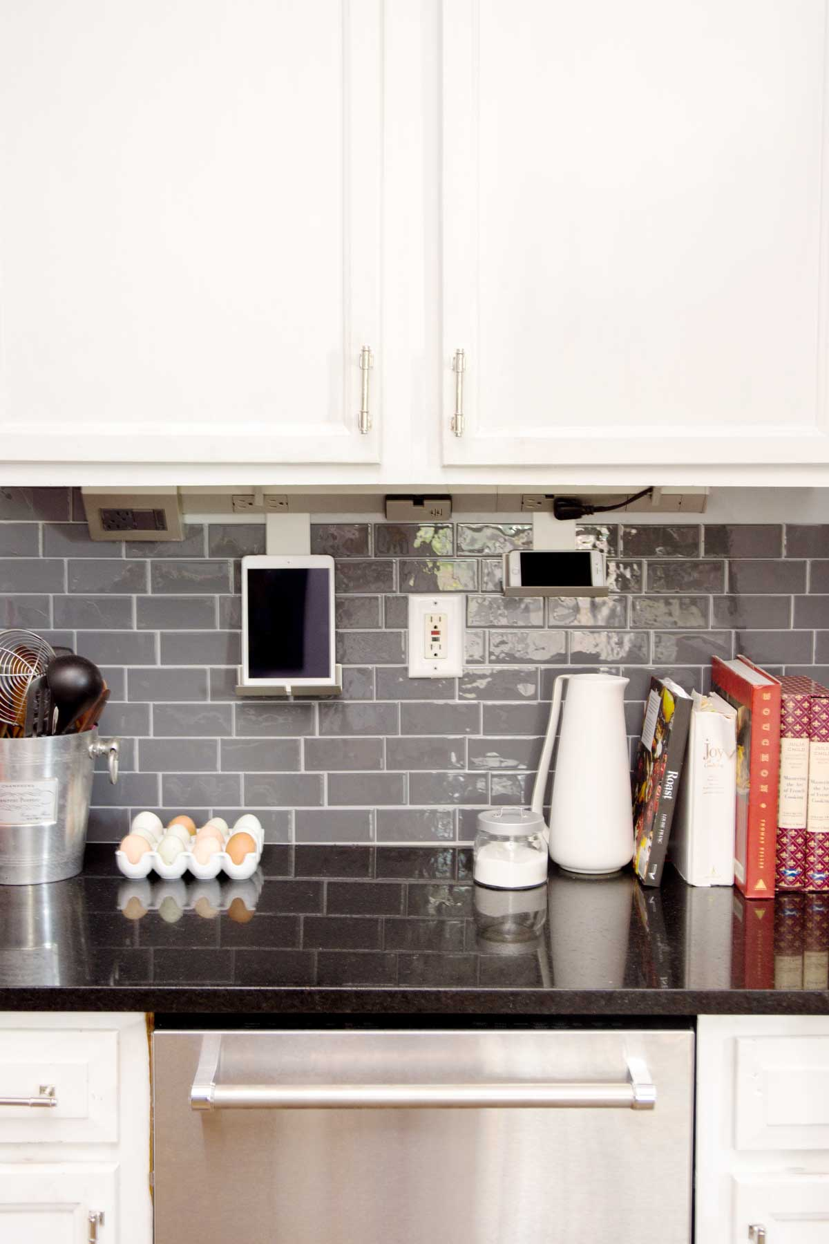 Under-cabinet lighting and power system by Legrand in our kitchen on Thou Swell @thouswellblog