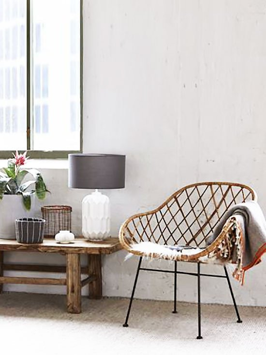 Clara rattan boho armchair from Furniture Maison on Thou Swell @thouswellblog