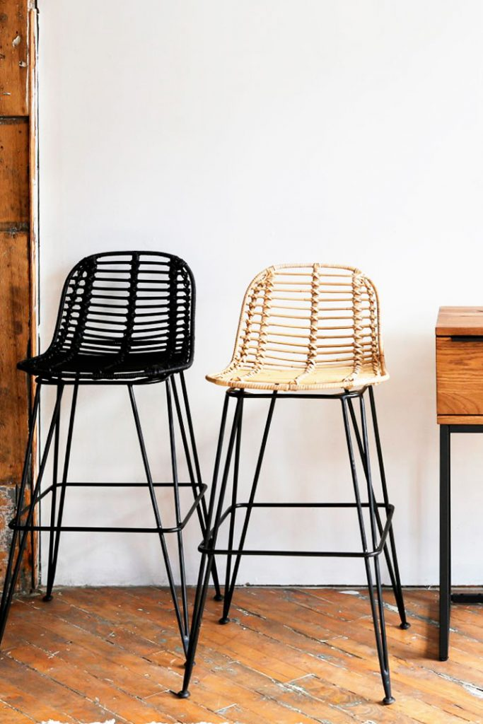 Lilo modern rattan counter stools from Furniture Maison on Thou Swell @thouswellblog