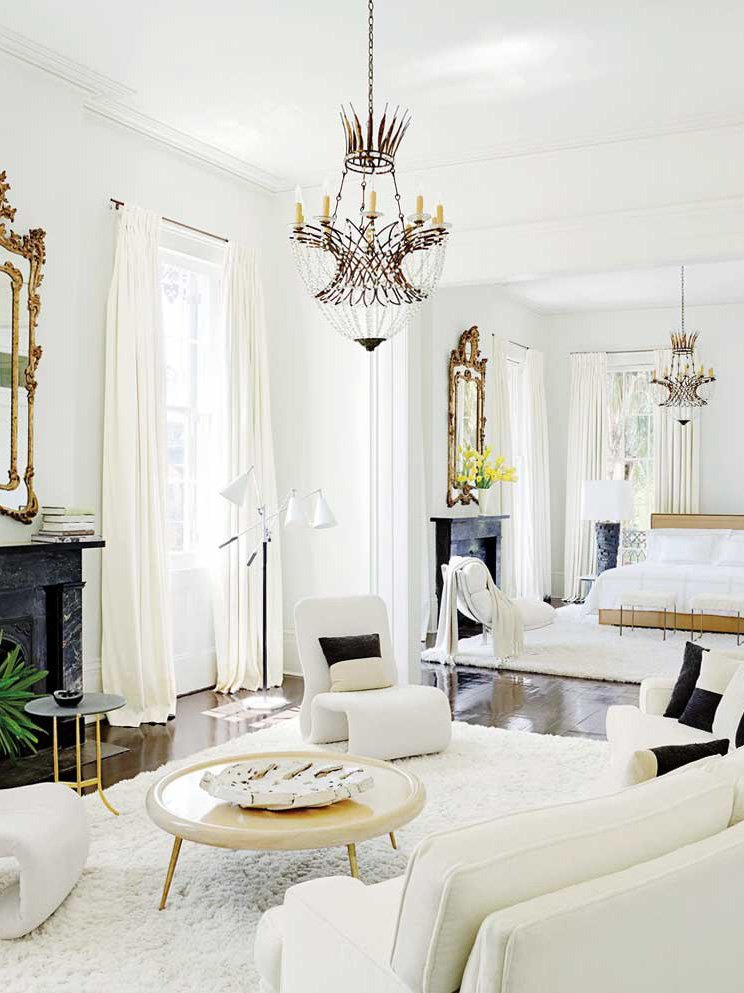 All-white bedroom suite in New Orleans on Thou Swell @thouswellblog