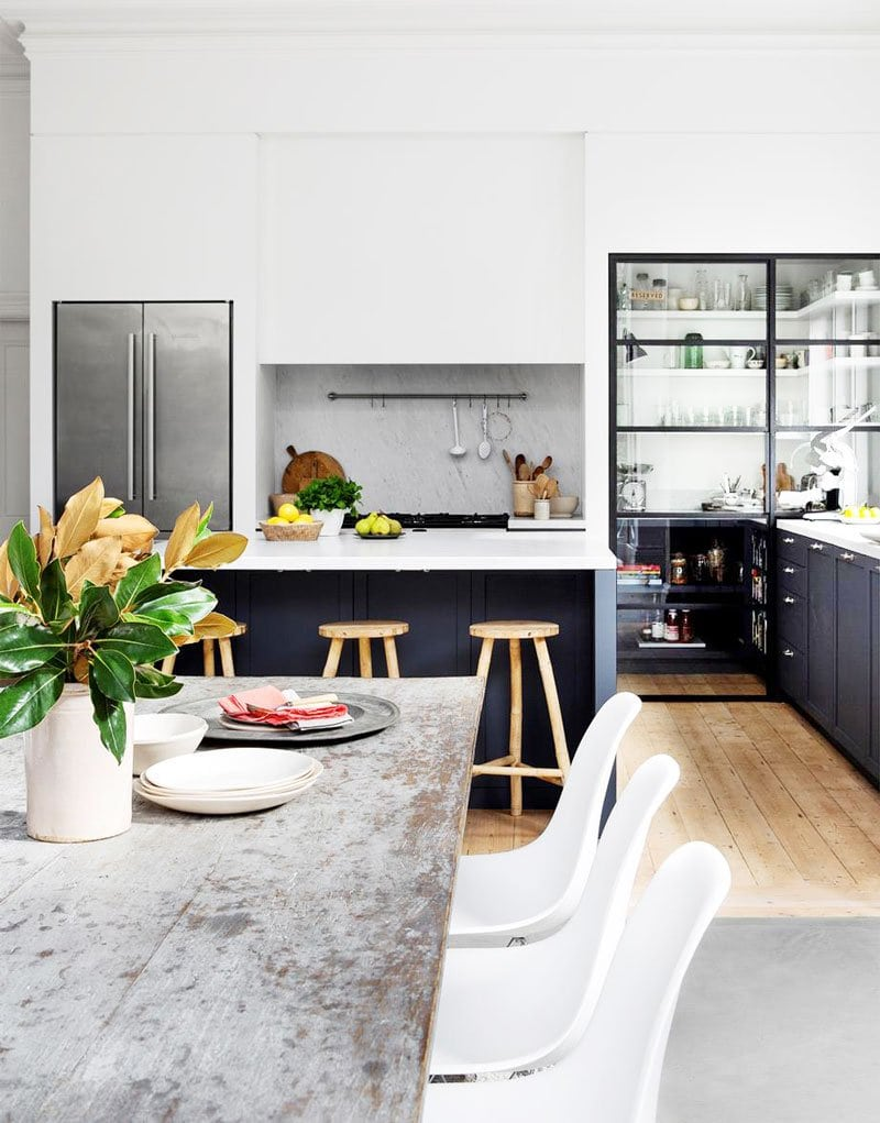 A modern 19th century kitchen in Melbourne, Australia on Thou Swell @thouswellblog