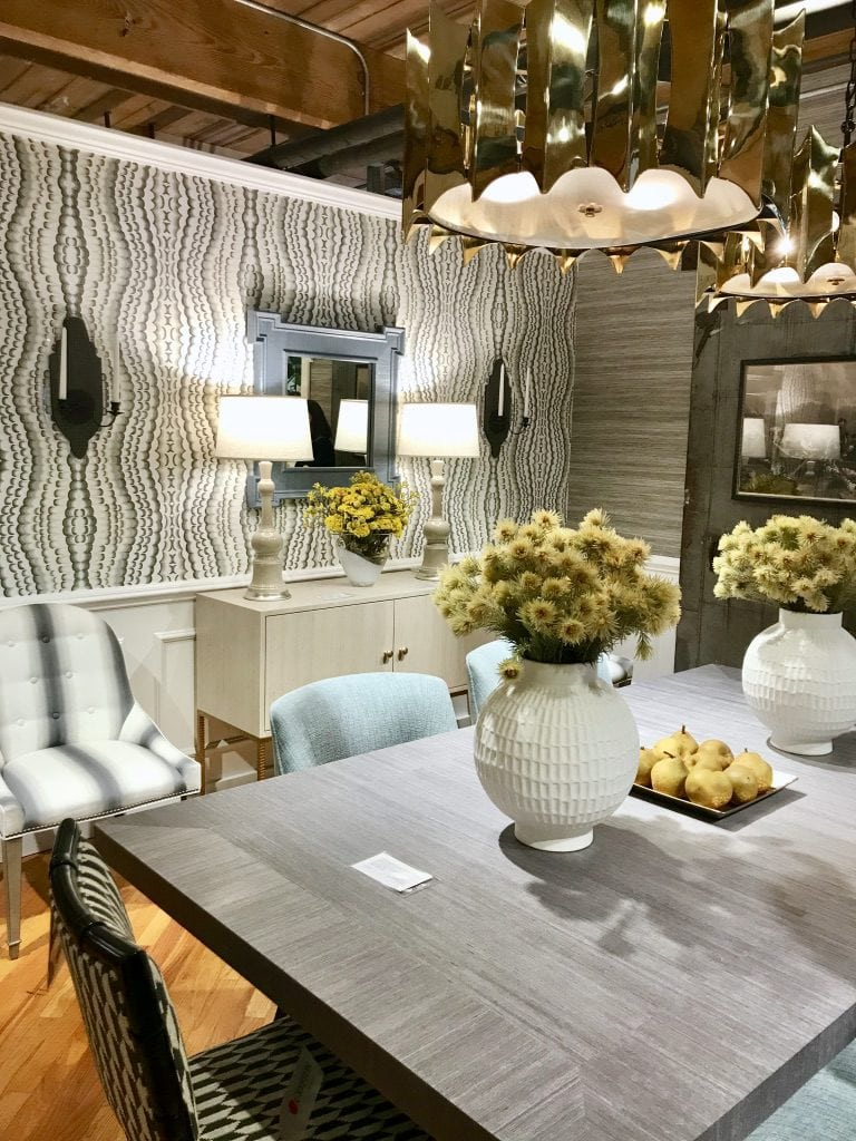 Thibault Fine Furniture showroom at High Point Market with the Design Bloggers Tour 2018 on Thou Swell @thouswellblog
