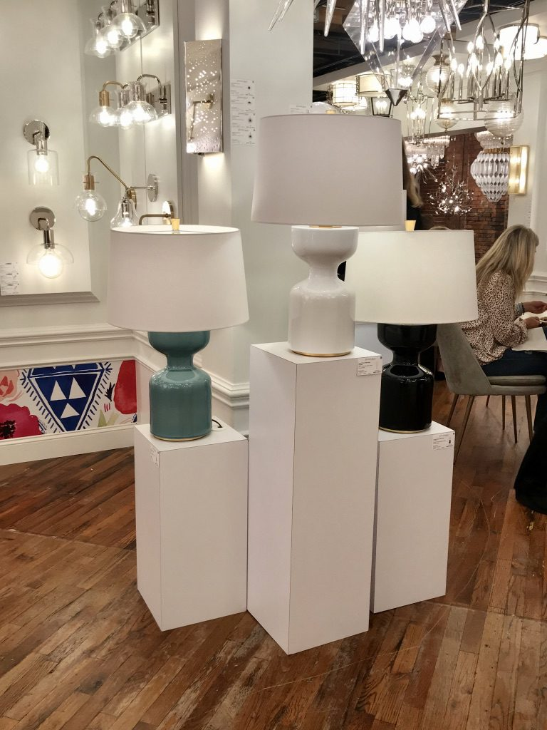 Hudson Valley Lighting showroom at High Point Market with the Design Bloggers Tour 2018 on Thou Swell @thouswellblog