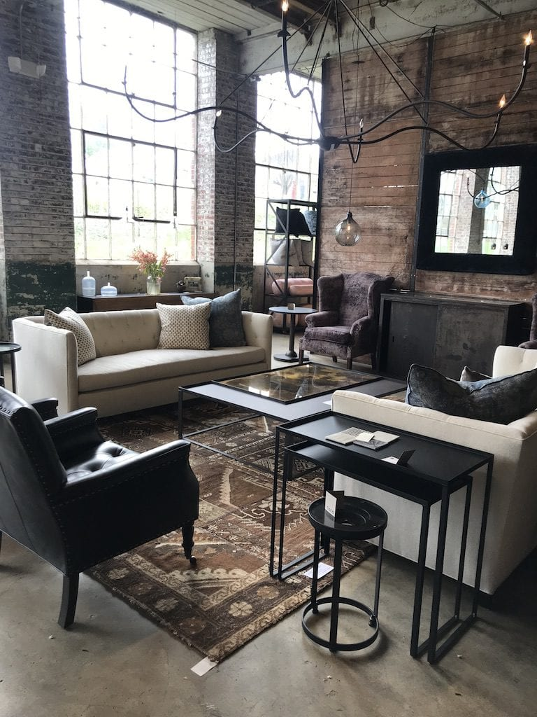Cisco Brothers showroom at High Point Market with the Design Bloggers Tour 2018 on Thou Swell @thouswellblog