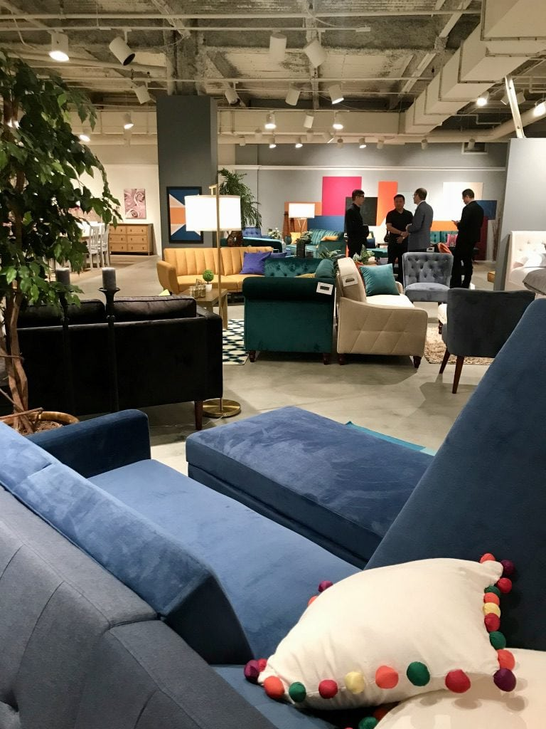 Dorel Home DHP showroom at High Point Market with the Design Bloggers Tour 2018 on Thou Swell @thouswellblog