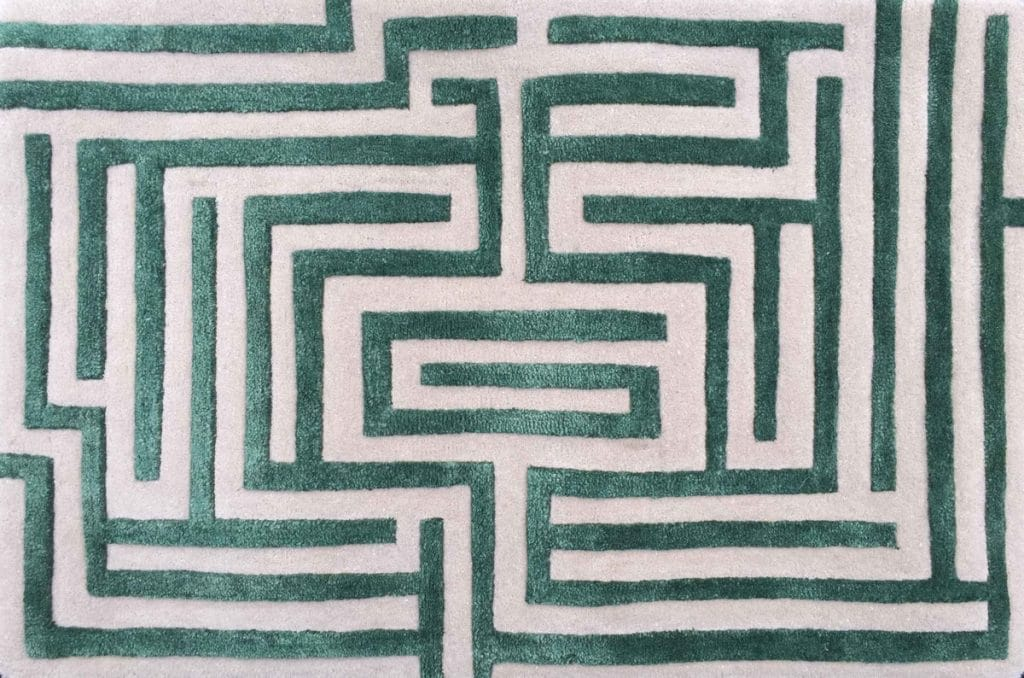 Anatolia Green Maze Area Rug by Kevin Francis Design