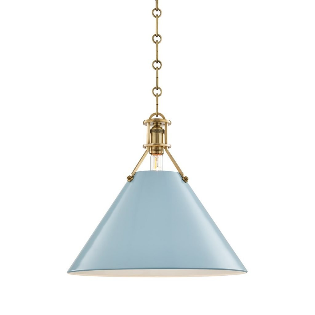Mark D. Sikes for Hudson Valley Lighting blue pendant on Thou Swell @thouswellblog