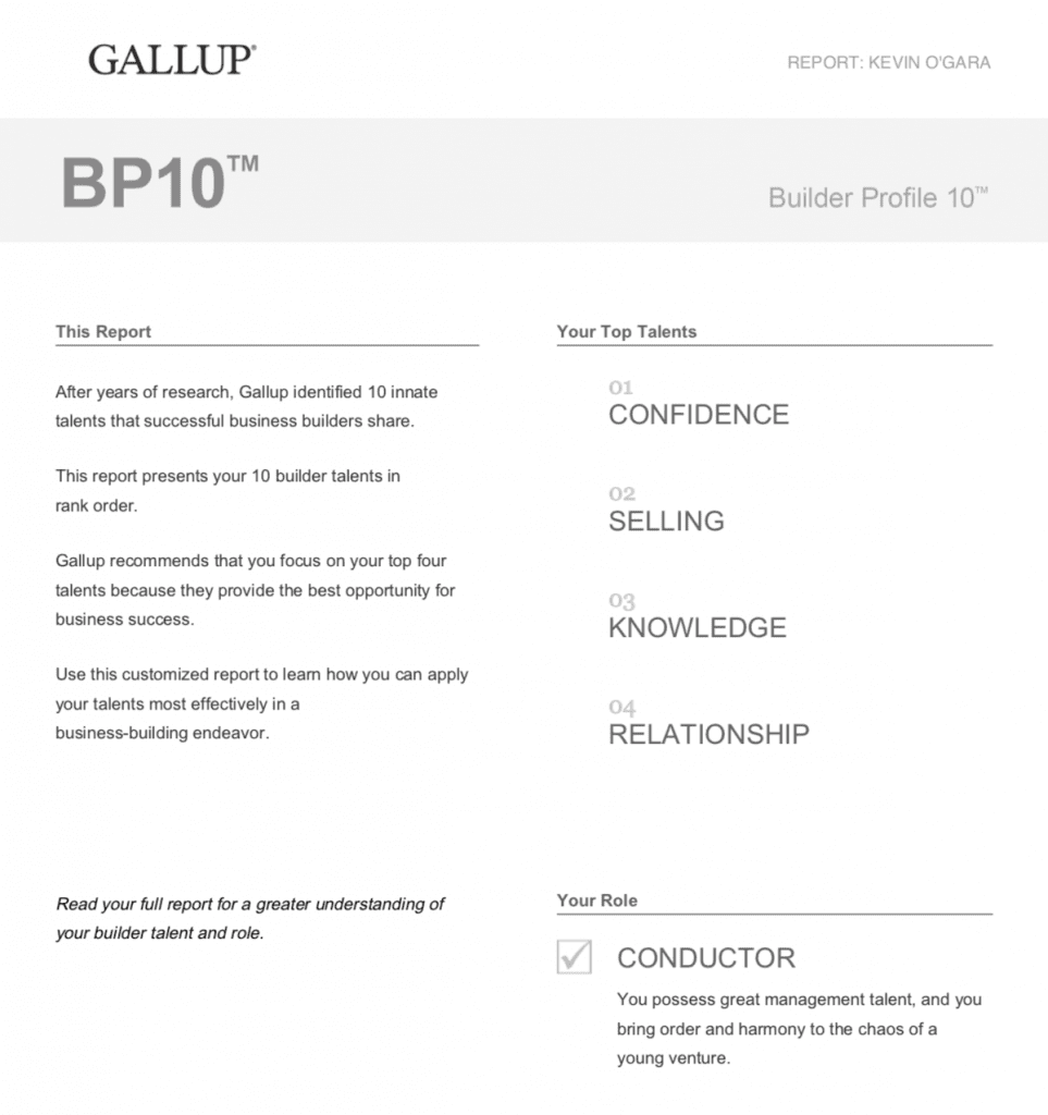 Gallup BP10 Results