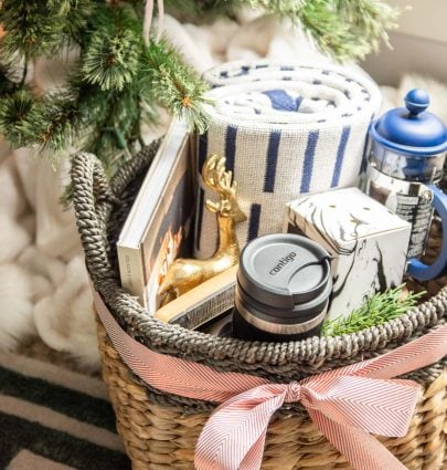 Holiday gift basket with Contigo Glaze in Latte on Thou Swell @thouswellblog