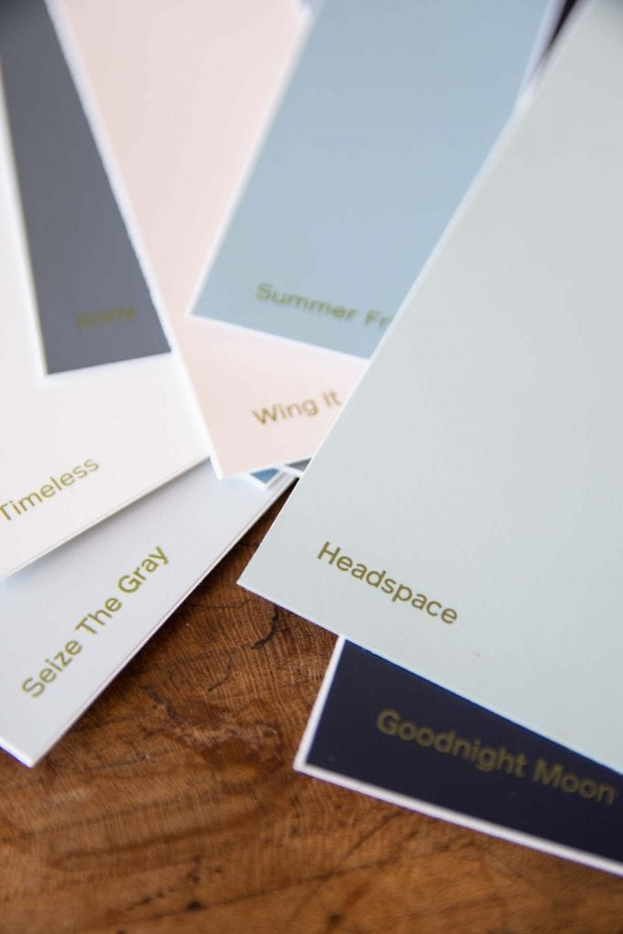 Clare paint large easy stick-on color swatches on Thou Swell @thouswellblog
