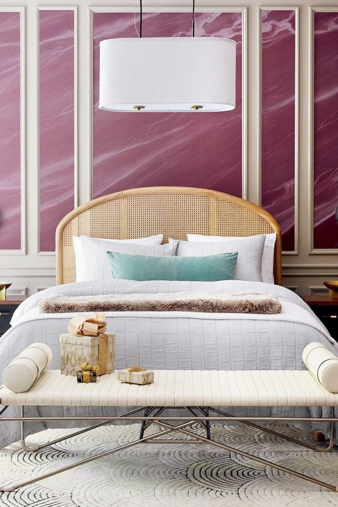 Rattan wicker cane bed on Thou Swell, cane furniture roundup #canefurniture #wickerfurniture #rattanfurniture