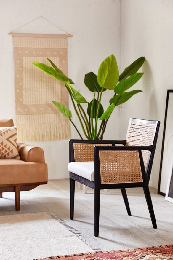 Rattan wicker cane chair on Thou Swell, cane furniture roundup #canefurniture #wickerfurniture #rattanfurniture