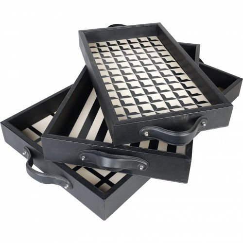 Patterned black and white trays by Aidan Gray on Thou Swell @thouswellblog #homedecor #decor #trays