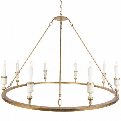 Round gold candelabra chandelier by Aidan Gray on Thou Swell @thouswellblog #homedecor #lighting #chandelier