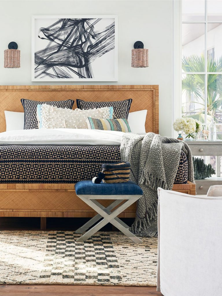 Long Key Queen Bed by Coastal Living for Universal Furniture on Thou Swell @thouswellblog #homedecor #coastaldecor #coastalliving