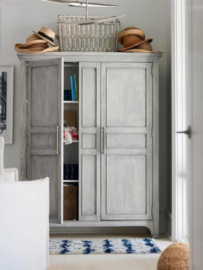 Utility Cabinet armoire by Coastal Living for Universal Furniture on Thou Swell @thouswellblog #homedecor #coastaldecor #coastalliving