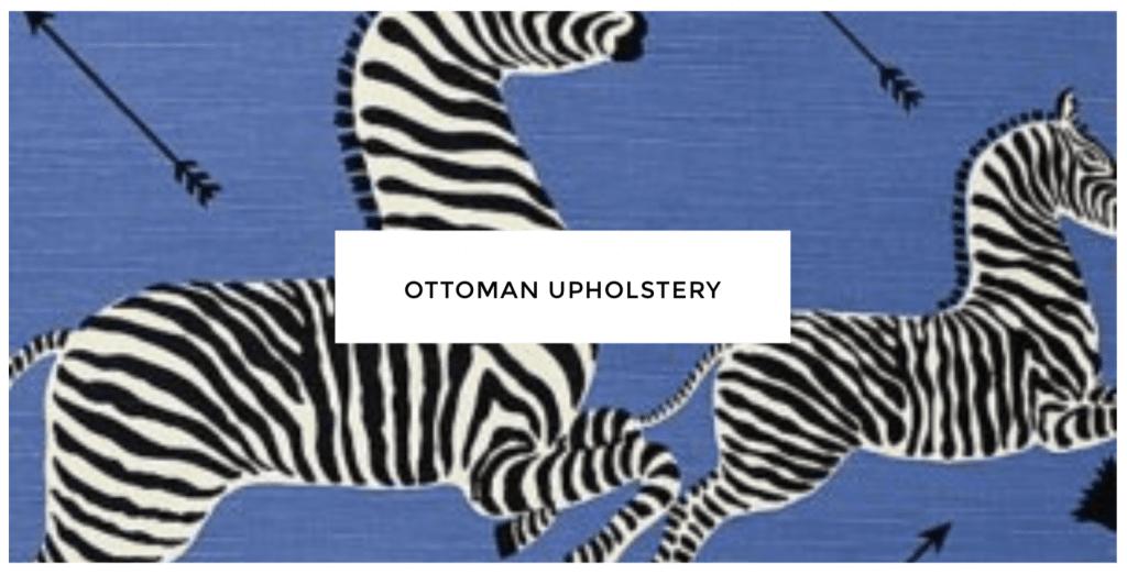 Scalamandre Zebra denim fabric from DecoratorsBest on Thou Swell @thouswellblog