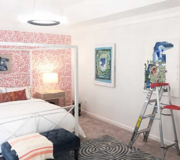 Make It Home show house sneak peek with Invitation Homes master bedroom design by Kevin O'Gara on Thou Swell