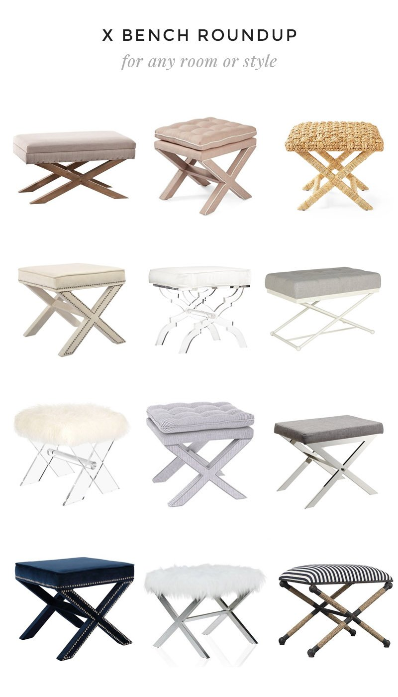X Bench roundup for any room or style #decor #homedecor #decorating #interiordecor #xbench #bench #roundup #decorroundup