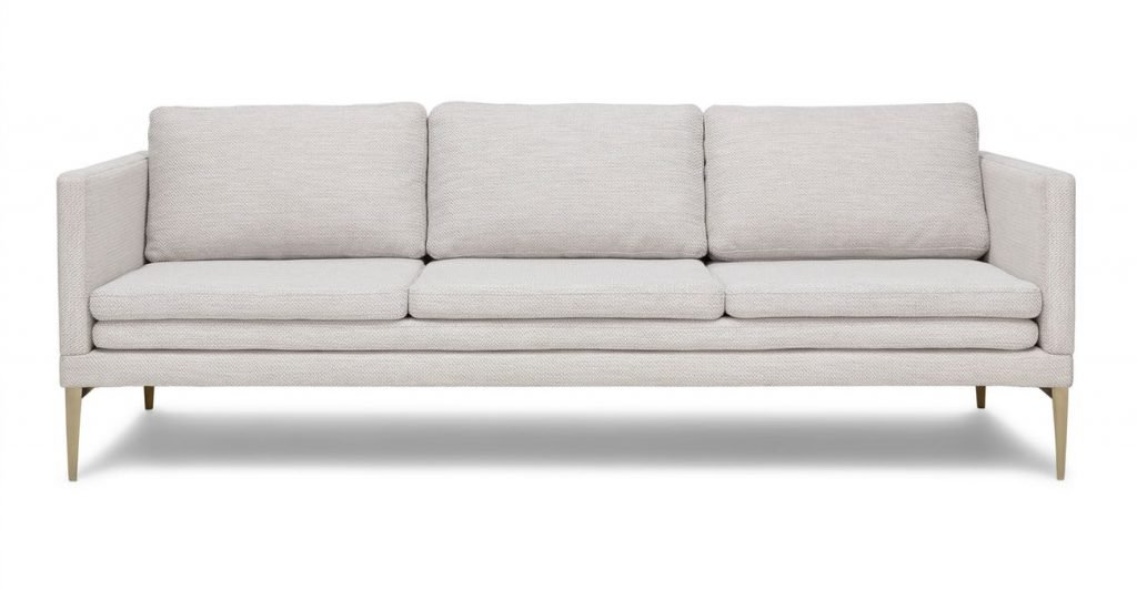 Triplo modern three seat white sofa from Article on Thou Swell