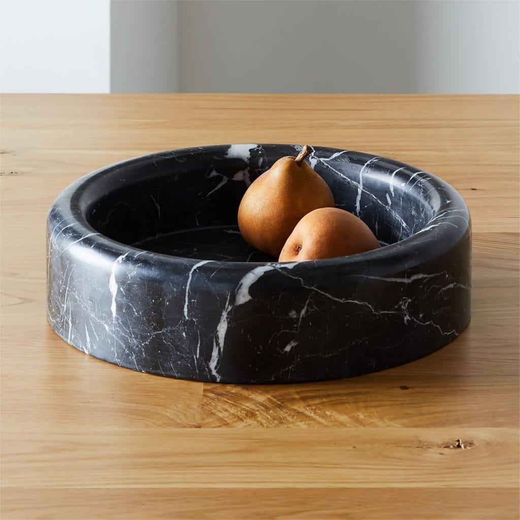 on Thou Swell @thouswellblog #homedecor #decor #furniture #furnituredesign #gq #cb2 #bowl #marble #blackmarble #marblebowl #kitchendecor