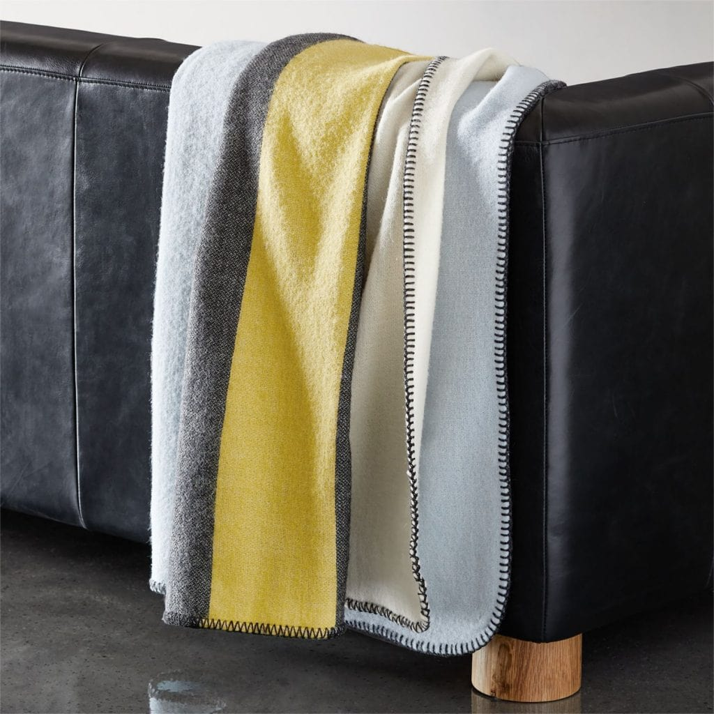 on Thou Swell @thouswellblog #homedecor #decor #furniture #furnituredesign #gq #cb2 #blanket #striped #stripedblanket #stripes #throwblanket