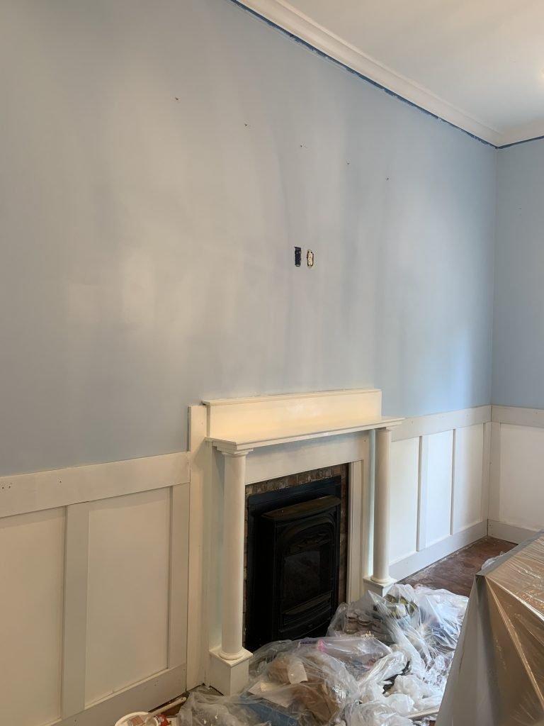 Home Depot and Behr paint dining room makeover by Kevin O'Gara progress on Thou Swell