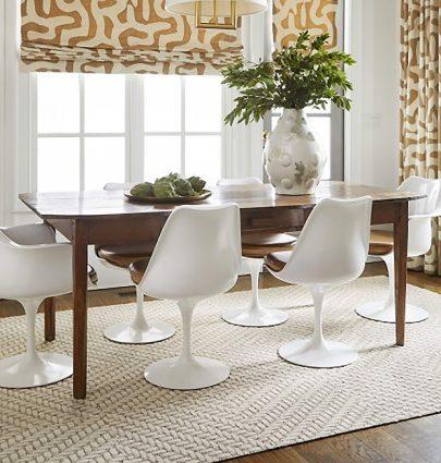 Flor rug tiles modular carpet squares in dining room on Thou Swell #diningroom #rugtiles #flor #interiordesign #homedesign #homedecor #carpettiles