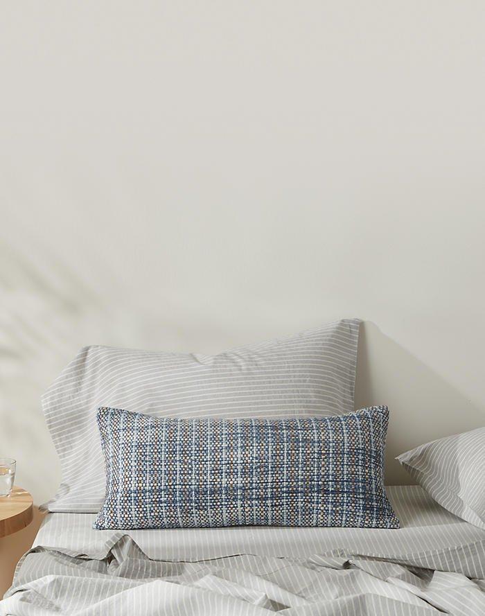 Madewell x Parachute sleep collection, lumbar pillow on Thou Swell #sheets #bedding #bedroom #bedroomdesign #bedroomdecor