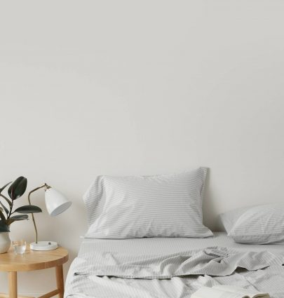 Madewell x Parachute sleep collection, striped sheets on Thou Swell #sheets #bedding #bedroom #bedroomdesign #bedroomdecor