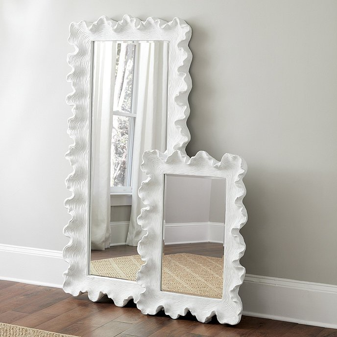 Atoll white curvy floor mirror from Ballard Designs on Thou Swell