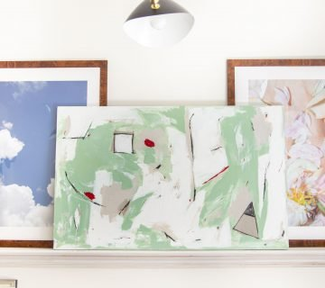 Green modern abstract painting timelapse video by Kevin O'Gara on Thou Swell