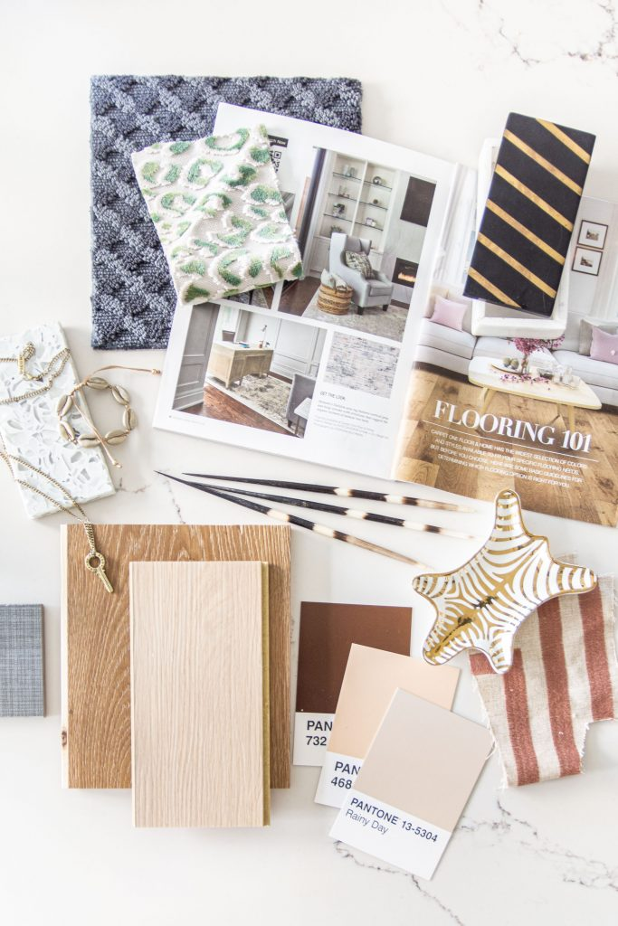 2020 flooring trends moodboard home decor trends with CarpetOne on Thou Swell #homedecor #homedecortrends #flooring #2020trends #flooringtrends #materials #renovation