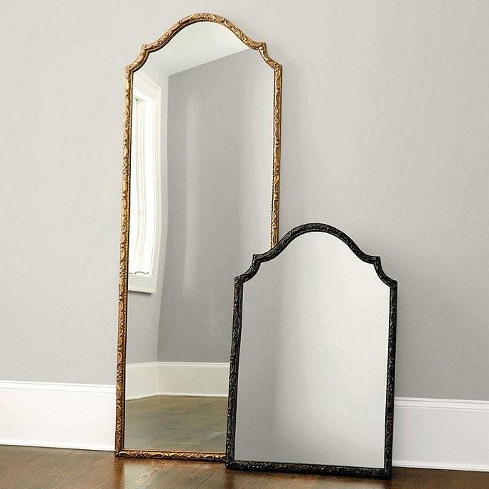 Rosamund gold floor mirror from Ballard Designs on Thou Swell