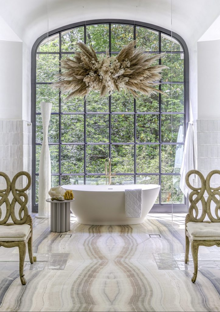 Southeastern showhouse in Atlanta, master bathroom tub by SOURCE Atlanta on Thou Swell #showhouse #atlanta #atlantahomes #southernstyle #southerndesign #interiordesign #interiordesigner #design
